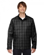 Personalized Ash City - North End Sport Blue Men's Locale Lightweight City Plaid Jacket
