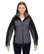 Custom Embroidered Ash City - North End Sport Red Ladies' Alta 3-in-1 Seam-Sealed Jacket with Insulated Liner