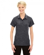 Monogrammed Ash City - North End Sport Red Ladies' Barcode Performance Stretch Polo