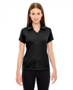 Custom Embroidered Ash City - North End Sport Red Ladies' Exhilarate Coffee Charcoal Performance Polo with Back Pocket