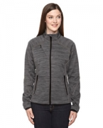Monogrammed Ash City - North End Sport Red Ladies' Flux Mlange Bonded Fleece Jacket