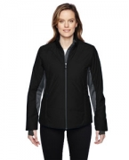 Logo Ash City - North End Sport Red Ladies' Immerge Insulated Hybrid Jacket with Heat Reflect Technology