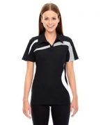 Customized Ash City - North End Sport Red Ladies' Impact Performance Polyester Pique Colorblock Polo
