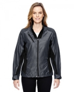 Monogrammed Ash City - North End Sport Red Ladies' Interactive Aero Two-Tone Lightweight Jacket