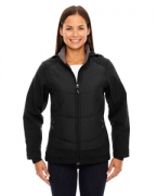 Embroidered Ash City - North End Sport Red Ladies' Neo Insulated Hybrid Soft Shell Jacket