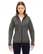 Customized Ash City - North End Sport Red Ladies' Peak Sweater Fleece Jacket