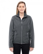 Customized Ash City - North End Sport Red Ladies' Quantum Interactive Hybrid Insulated Jacket