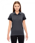Monogrammed Ash City - North End Sport Red Ladies' Refresh UTK cool.logik Coffee Performance Mlange Jersey Polo