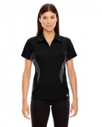 Promotional Ash City - North End Sport Red Ladies' Serac UTK cool.logik Performance Zippered Polo
