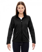 Personalized Ash City - North End Sport Red Ladies' Splice Three-Layer Light Bonded Soft Shell Jacket with Laser