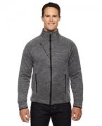 Monogrammed Ash City - North End Sport Red Men's Flux Mlange Bonded Fleece Jacket