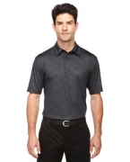 Logo Ash City - North End Sport Red Men's Maze Performance Stretch Embossed Print Polo