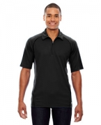 Embroidered Ash City - North End Sport Red Men's Serac UTK cool.logik Performance Zippered Polo
