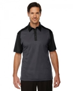 Customized Ash City - North End Sport Red Men's Symmetry UTK cool.logik Coffee Performance Polo