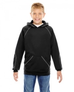 Custom Logo Ash City - North End Youth Pivot Performance Fleece Hoodie