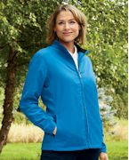 Logo Ashworth Ladies' Full-Zip Lined Wind Jacket