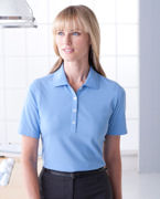 Logo Ashworth Ladies' High Twist Cotton Tech Polo