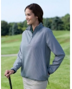 Embroidered Ashworth Ladies' Houndstooth Half-Zip Jacket
