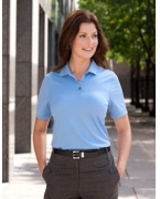 Embroidered Ashworth Ladies' Performance Wicking Piqu Polo