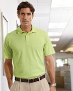 Embroidered Ashworth Men's EZ-Tech Short-Sleeve Textured Polo