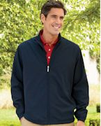 Monogrammed Ashworth Men's Full-Zip Lined Wind Jacket