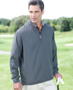 Embroidered Ashworth Men's Houndstooth Half-Zip Jacket