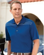 Embroidered Ashworth Men's Performance Interlock Print Polo