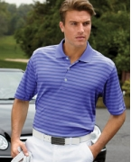 Monogrammed Ashworth Men's Performance Interlock Stripe Polo