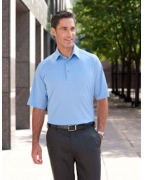 Logo Ashworth Men's Performance Wicking Piqu Polo