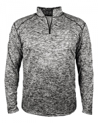 Embroidered Badger Adult Blend 1/4-Zip Pullover