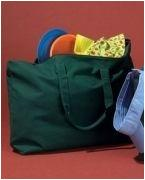 Embroidered BAGedge 12 oz. Canvas Zippered Book Tote