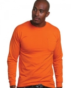 Embroidered Bayside Adult Long-Sleeve Tee with Pocket
