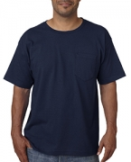 Custom Logo Bayside Adult Short-Sleeve Tee with Pocket