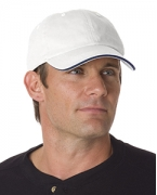Custom Embroidered Bayside Washed Cotton Unstructured Sandwich Cap
