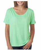 Custom Embroidered Bella + Canvas Ladies' Blended Flowy Simple Tee