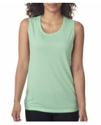 Customized Bella + Canvas Ladies' Flowy Scoop Blended Muscle Tank