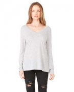 Promotional Bella + Canvas Ladies' Long-Sleeve Flowy V-Neck
