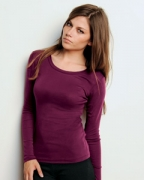 Promotional Bella + Canvas Ladies' Sheer Mini Rib Long-Sleeve T-Shirt