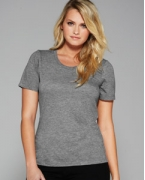Personalized Bella + Canvas Missy Jersey Short-Sleeve Scoop Neck T-Shirt