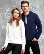 Embroidered Bella + Canvas Unisex Poly-Cotton Fleece Pullover Hoodie