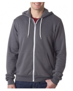 Custom Logo Bella+Canvas Unisex Zip-Up Poly-Cotton Fleece Hoodie