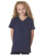 Personalized Bella+Canvas Youth Jersey V-Neck Tee