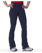 Embroidered Bella Cotton/Spandex Fitness Pants