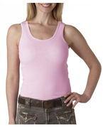 Logo Bella Ladies' 1x1 Rib Tank Top