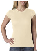 Embroidered Bella Ladies' Kimberley Sheer Rib T-Shirt