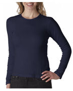 Promotional Bella Ladies' Long-Sleeve Crewneck T-Shirt