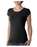 Customized Bella Ladies Marcelle Sheer Jersey T-Shirt