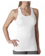 Custom Embroidered Bella Ladies' Meredith Sheer Rib Racer-Back Tank Top