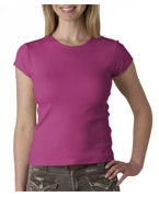 Embroidered Bella Ladies' Short-Sleeve Crewneck T-Shirt