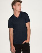 Embroidered Bella Men's 3.4 oz. Short-Sleeve V-Neck Triblend
